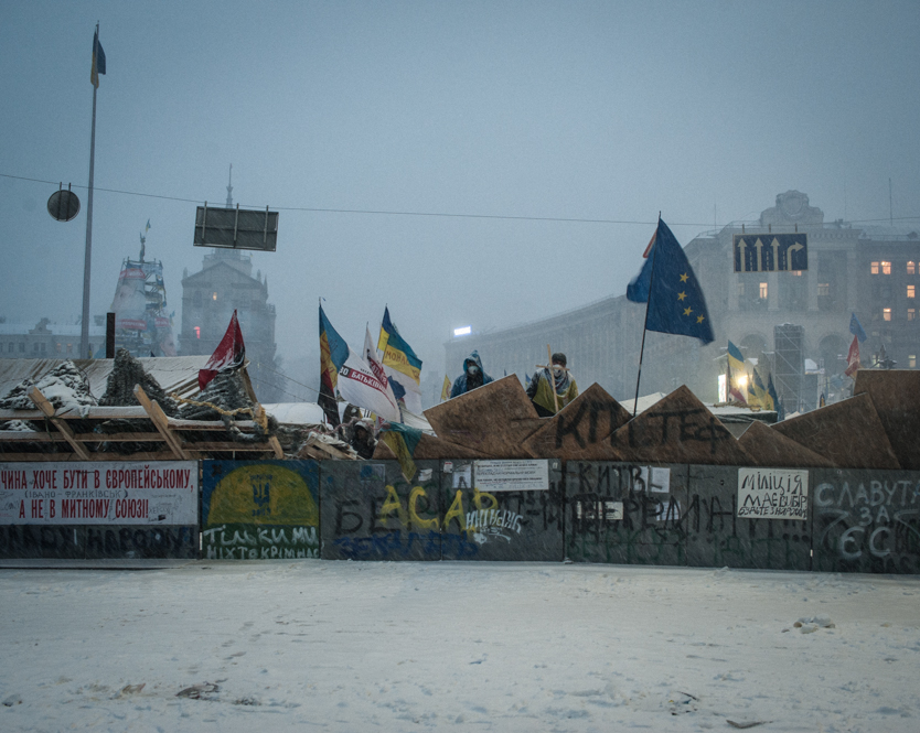 Demonstration in Kiev against Ukraine's rejection of the EU agre