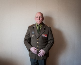 Veteran of the second world war. March 3th 2014. Sevastopol. Crimea. Ukraine.