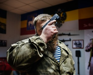 STAKHANOV- March 14th 2016- 8:55PM- Genia, 31, pro-russian cossack chief in LNR (Lugansk People's Republic)